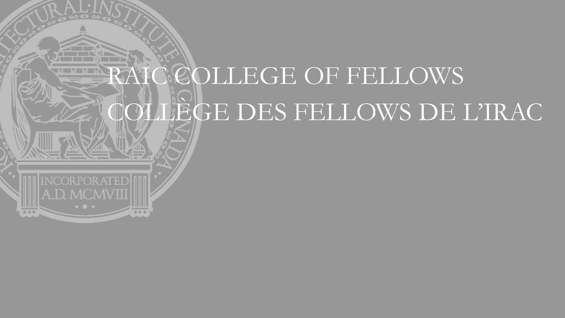 Michel Broz inducted into the College of Fellows