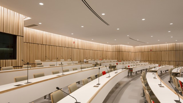 Jodoin Lamarre Pratte architectes - Design of the auditorium of the Research Institute of the MUHC